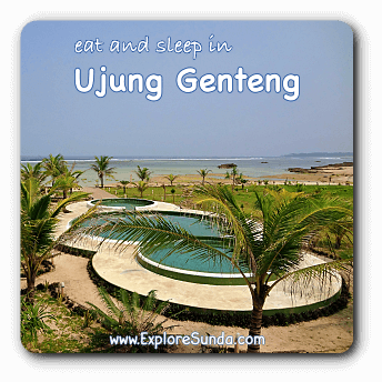 Where to eat and sleep in Ujung Genteng beach.