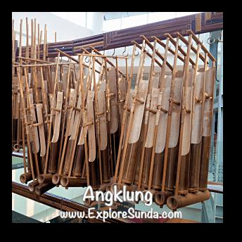 Angklung, a Sundanese musical instrument made of bamboo