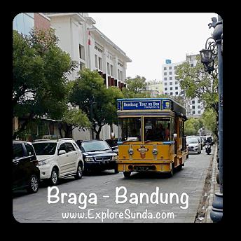 Explore the old town at jalan Braga Bandung.