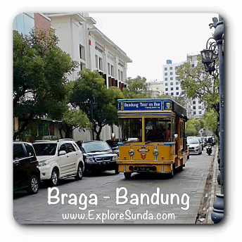 Jalan Braga, the old town in Bandung.