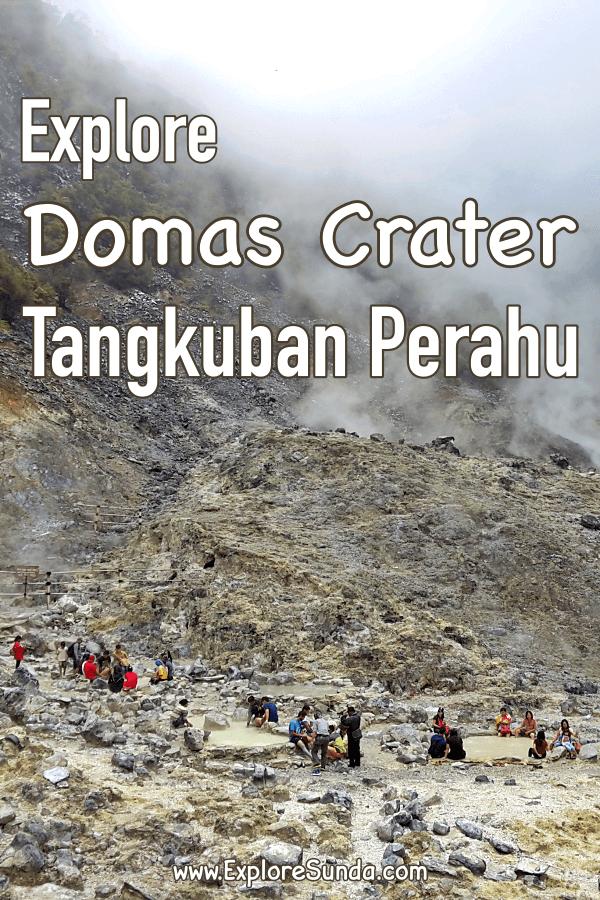 #Domas crater at mount #TangkubanPerahu #Lembang | We can walk across the crater, boil some eggs and get some mud spa here | #ExploreSunda.com
