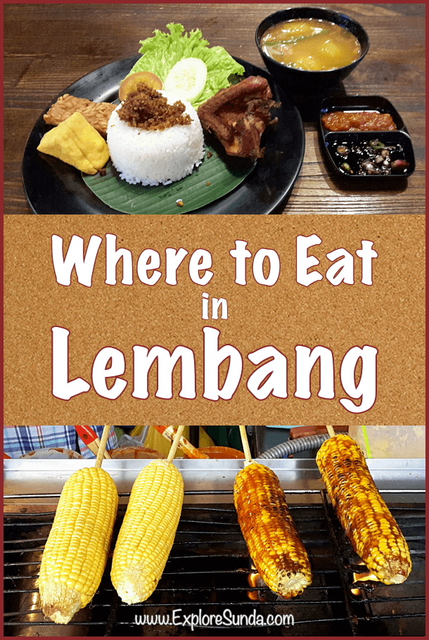 A list of recommended restaurants and special dishes in #Lembang #ExploreSunda