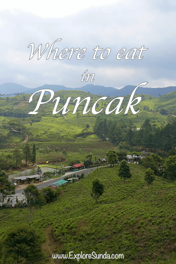 Where to eat in Puncak: a list of recommended restaurants in Puncak Pass.