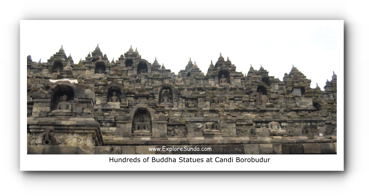 Hundreds of Buddha Statues at Candi Borobudur