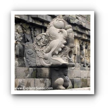 Rain drainage system at Candi Borobudur
