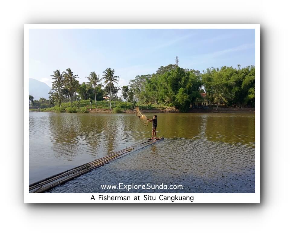 A Fisherman at Situ Cangkuang - Leles, Garut