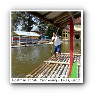 A Boatman at Situ Cangkuang - Leles, Garut