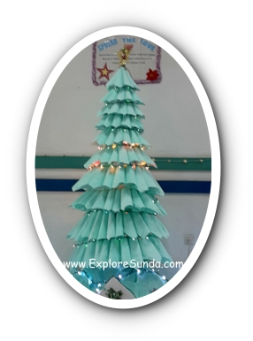 A Christmas Tree Made of Tissue Napkins at Immanuel Hospital, Bandung.