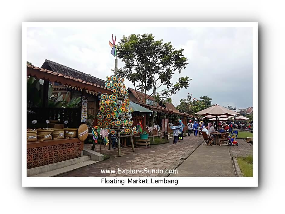 Souvenir Shops at Floating Market Lembang