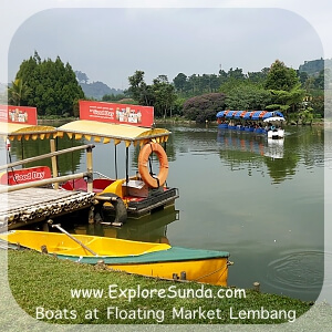 Boats at Floating Market Lembang