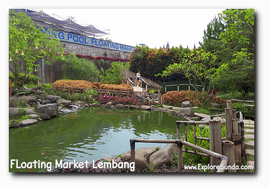 Fish pond at Floating Market Lembang.
