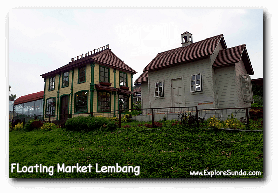 Children can play pretend to be a baker, a stylist, etc. in each of this beautiful house at Kota Mini - Floating Market Lembang.