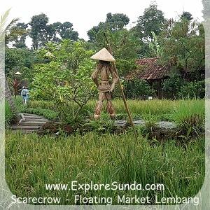 Cepot as Scarecrow at Floating Market Lembang