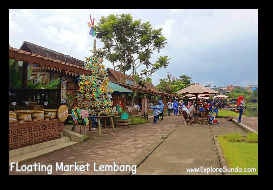 Shopping in Floating Market Lembang.