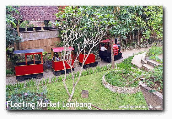 Train ride at Floating Market Lembang.