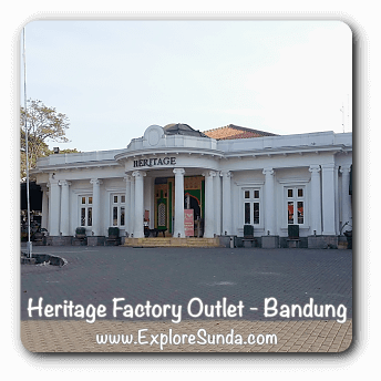 Factory outlets in Bandung.