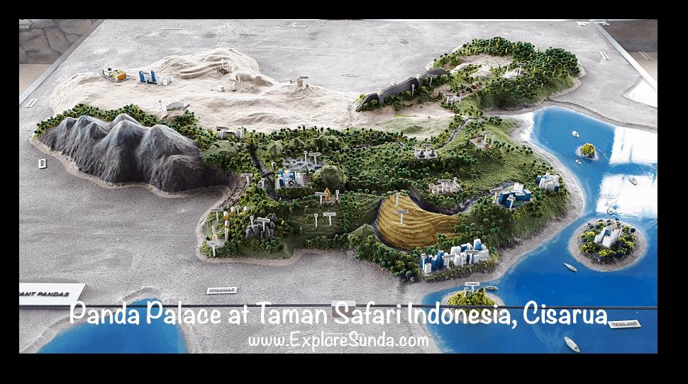 China Miniature Map at Istana Panda (Panda Palace) in Taman Safari Indonesia Cisarua Bogor.