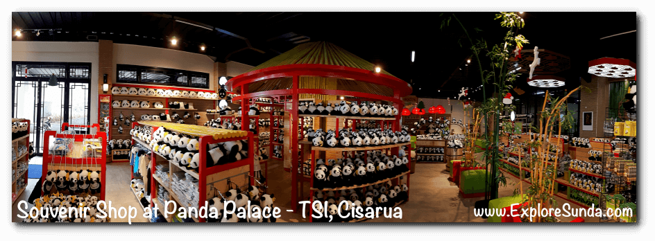 Souvenir Shop in Istana Panda (Panda Palace) at Taman Safari Indonesia Cisarua