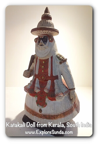 Katakali Doll from Kerala, South India - Museum Wayang