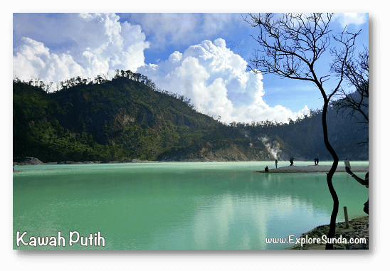 Mountains and Active Volcano in Sunda: Kawah Putih at mount Patuha, Bandung.