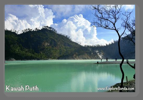 Mountains and Active Volcano in Sunda: Kawah Putih at mount Patuha, Bandung.