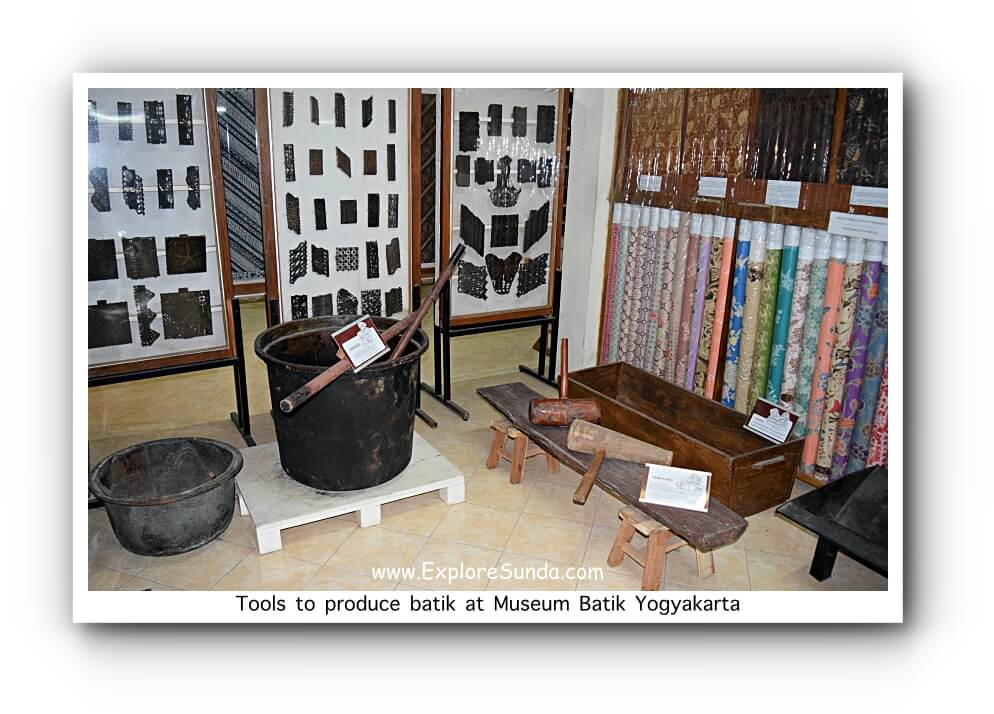 Tools used to produce batik at Museum Batik Yogyakarta