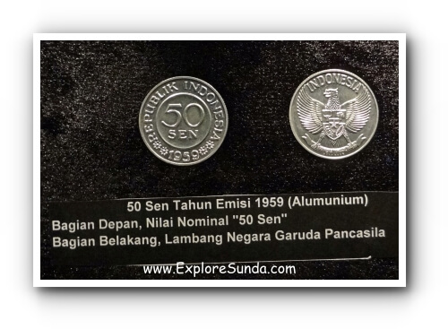 Numismatic collection of Museum Bank Indonesia.