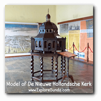 Model of De Nieuwe Hollandsche Kerk in Batavia.