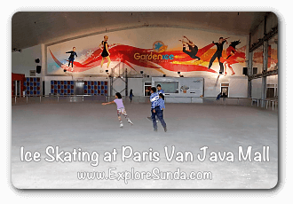 Ice Skating Rink at Paris Van Java Mall - Bandung