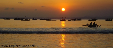 Sunset at Pangandaran Beach - West Java