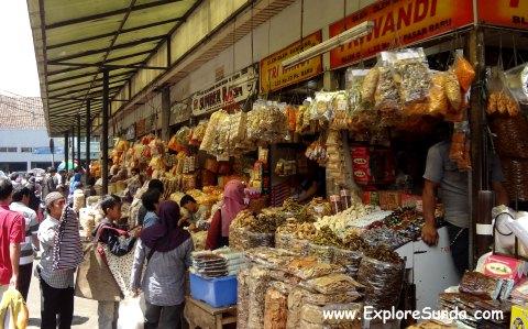 Snacks sold at Pasar Baru Bandung.