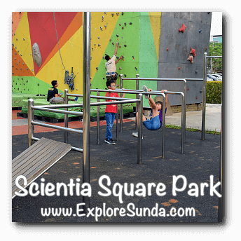 Workout with bars at Scientia Square Park, Summarecon Serpong