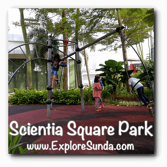 Climbing bars at Scientia Square Park, Summarecon Serpong