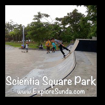Skateboarding  at Scientia Square Park, Summarecon Serpong