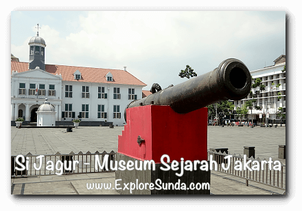 Si Jagur, the famous canon at Fatahillah square