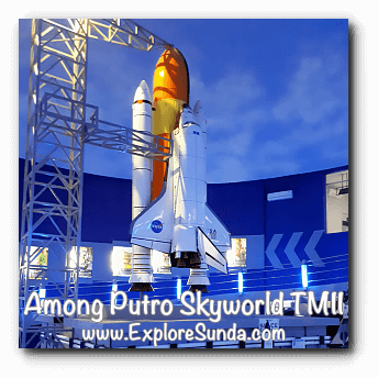 A space shuttle in Among Putro Skyworld, TMII