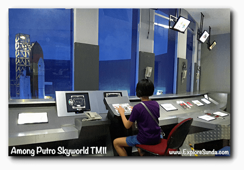 A replica of control room in Among Putro Skyworld, TMII