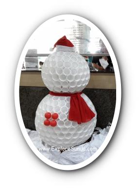 Snowman at Immanuel Hospital