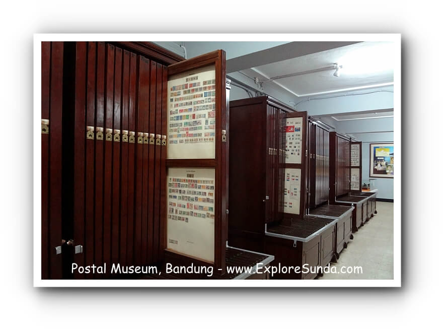 Stamps collection at Indonesia Postal Museum, Bandung.