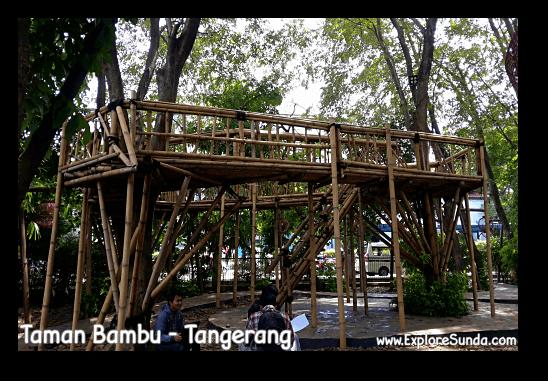 A bamboo platform in Bamboo garden - Tangerang.