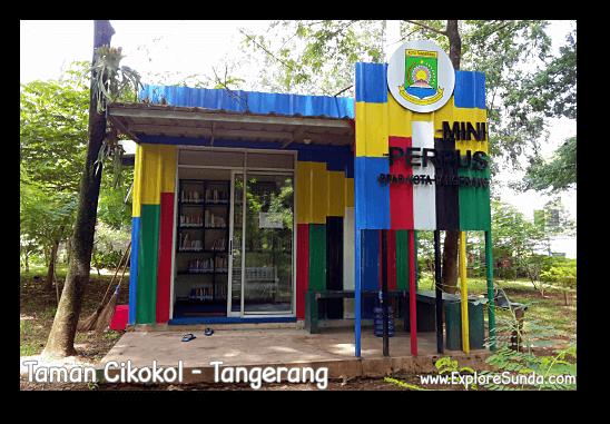 A mini library in Cikokol Garden, Tangerang