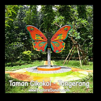 The butterfly garden in Cikokol Garden, Tangerang