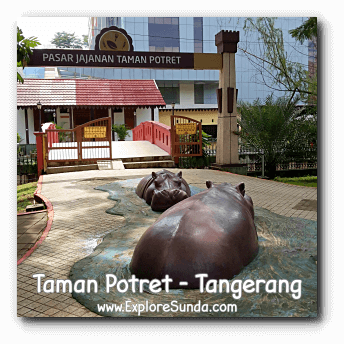 Hippos are waiting for you in Potret garden - Tangerang