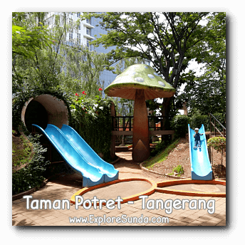 Children love to slides here in Potret garden - Tangerang.