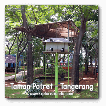 Birds chirp all day long in Potret garden - Tangerang.