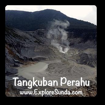 Queen Crater at Mount Tangkuban Perahu.