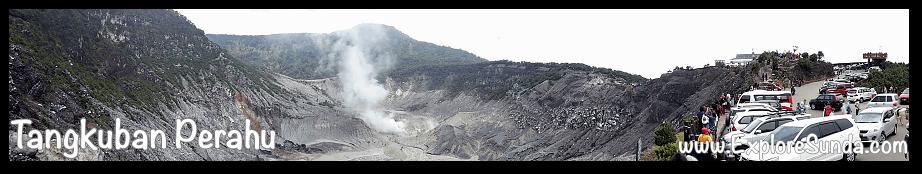 Mountains and Active Volcano in Sunda: mount Tangkuban Perahu, Bandung.