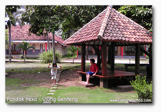 Pondok Hexa, the biggest motel in Ujung Genteng beach.