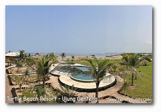 Turtle Beach Resort at Ujung Genteng Beach.