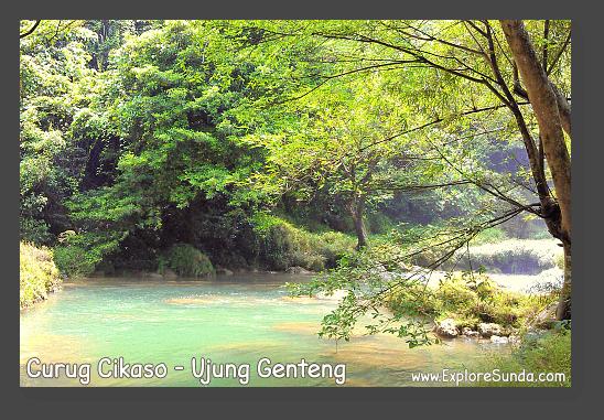 The beautiful riverbank on the way to Cikaso waterfall - Ujung Genteng.